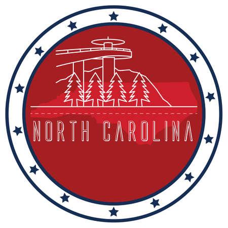 north carolina: north carolina sticker Illustration