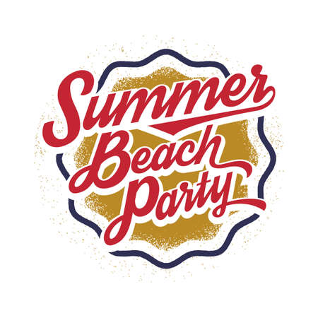 enjoyment: summer beach party label