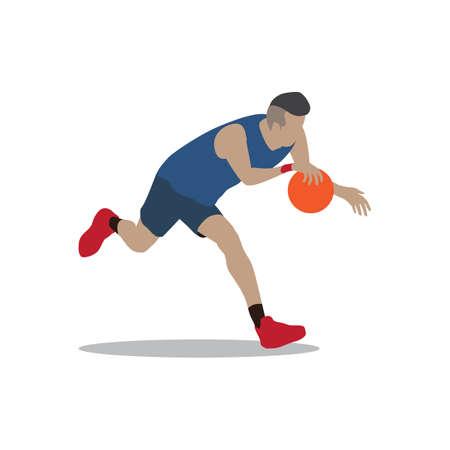 dribbling: basketball player