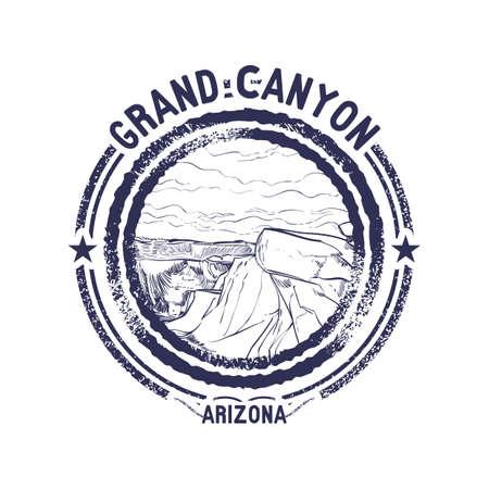 grand canyon: grunge rubber stamp of arizona Illustration