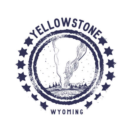 wyoming: grunge rubber stamp of wyoming