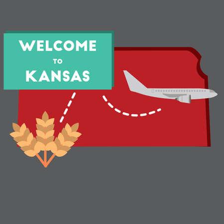 KANSAS: welcome to kansas state Illustration
