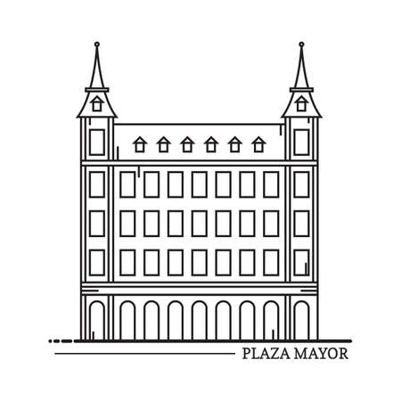 mayor: plaza mayor Illustration