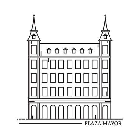 architecture pictogram: plaza mayor Illustration