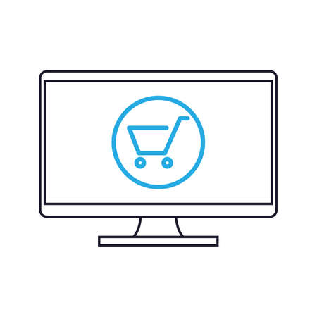 cart: monitor with shopping cart