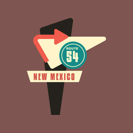 new mexico: new mexico route 54 Illustration