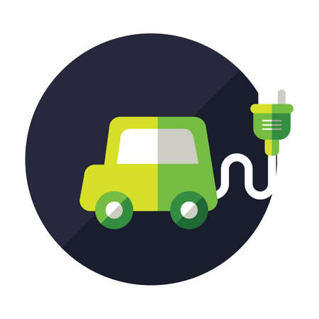 the car: electric car Illustration