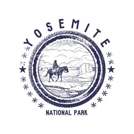 grunge rubber stamp of national park  イラスト・ベクター素材