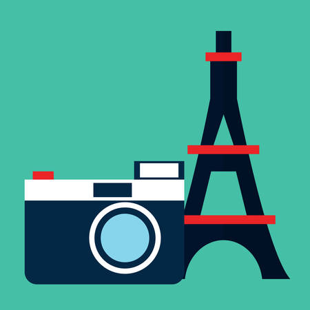 optical instrument: eiffel tower and camera