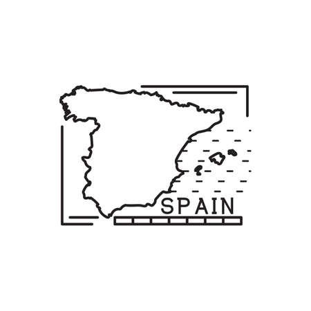 spain map: spain map Illustration