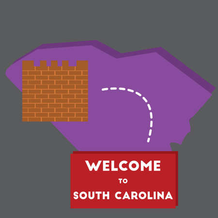 south carolina: welcome to south carolina state Illustration
