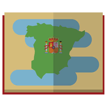 scrool: spain map scroll