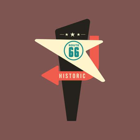 historic route 66 Illustration