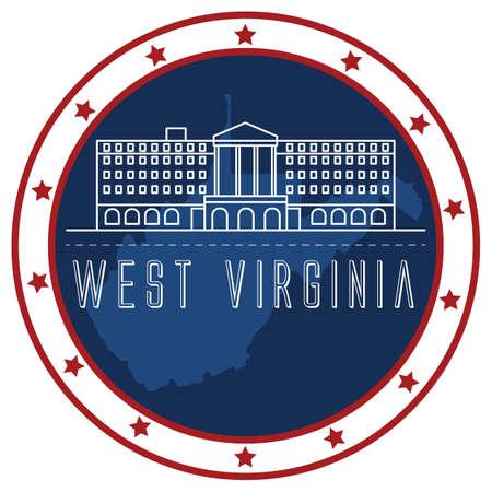 west virginia sticker Vector Illustration