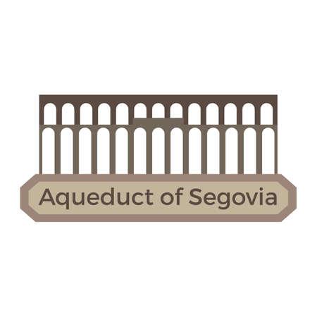 aqueduct of segovia Иллюстрация