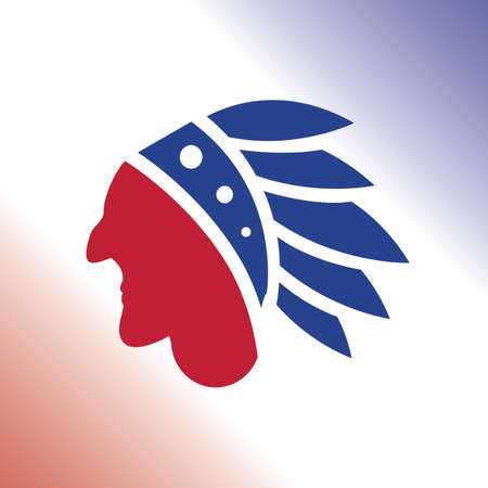 indian chief mascot: native american Illustration