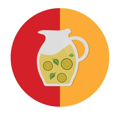 spanish tradition: lemonade with mint