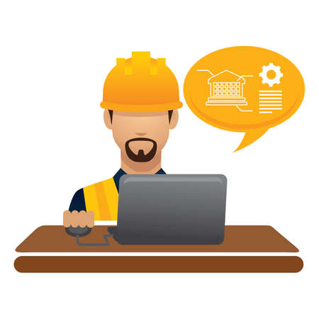 hark: construction worker on laptop