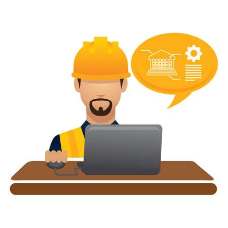 hark: construction worker on laptop
