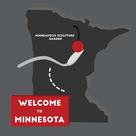 minnesota: welcome to minnesota state Illustration