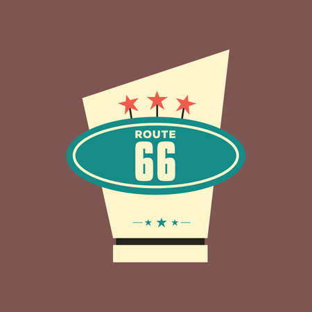 route 66: route 66 trophy Illustration