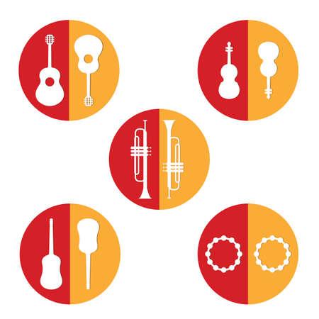 spanish tradition: set of spanish musical intruments Illustration