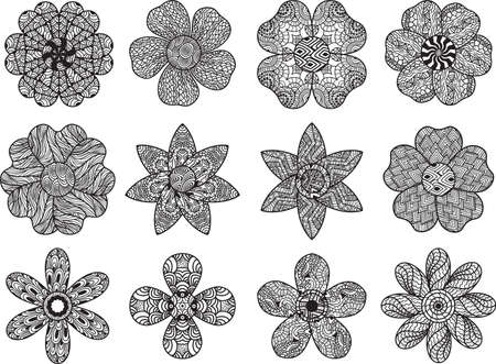 intricate: collection of intricate floral designs