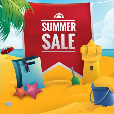shopping sale: summer sale Illustration