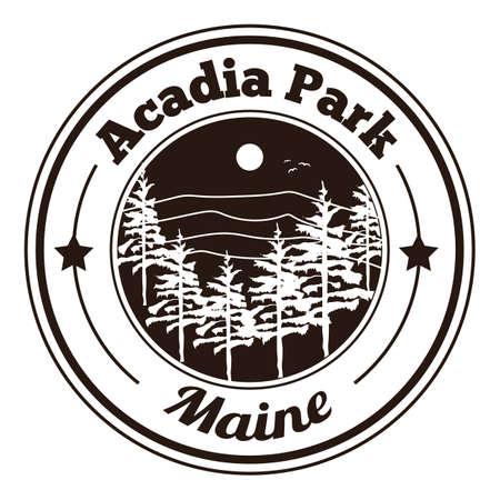 famous place: acadia park label