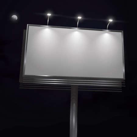outdoor lights: billboard Illustration
