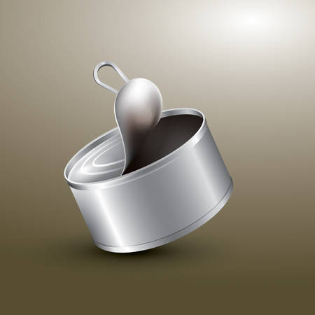 food storage: blank aluminium can