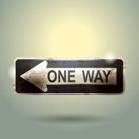 in a way: one way sign