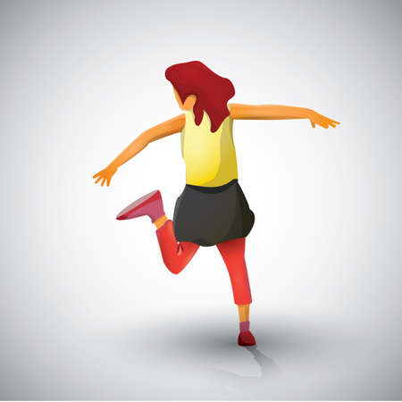 sleeveless: girl dancing
