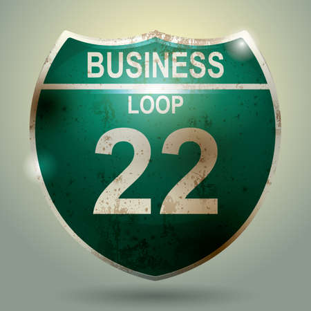 in the loop: business loop 22 sign Illustration