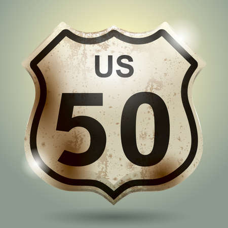 50: us 50 sign Illustration