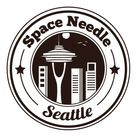 space needle: space needle label