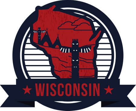 country side: map of wisconsin state