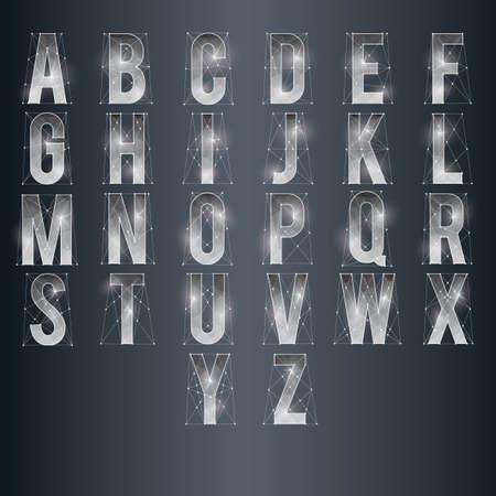 un conjunto de alfabetos de baja poli