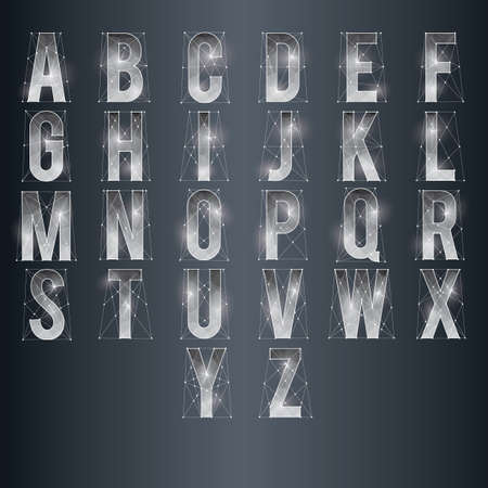 set of low poly alphabets