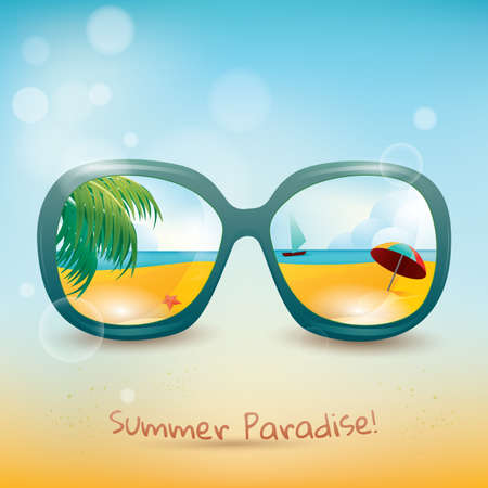 eyewear fashion: summer poster Illustration