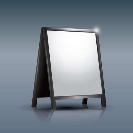advertising billboard: blank advertising billboard
