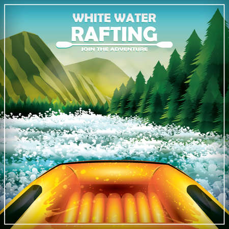 whitewater: whitewater rafting poster