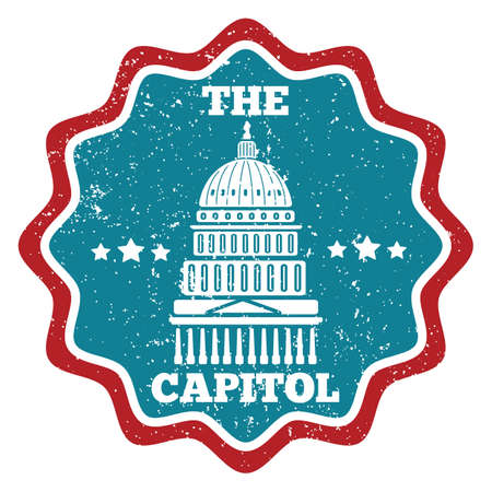 capitol: capitol building Illustration