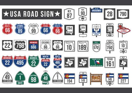 usa road sign