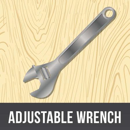 adjustable: adjustable wrench Illustration