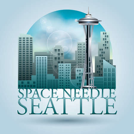 space needle: space needle seattle poster