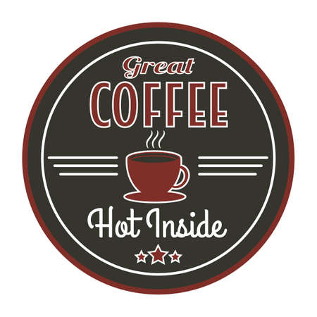 great coffee: retro store sign