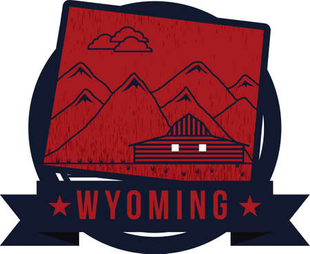 wyoming: map of wyoming state