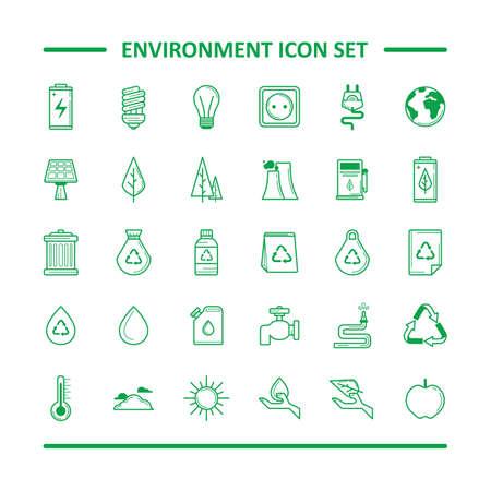apple paper bag: environment icon set Illustration
