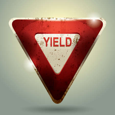 roadsigns: yield sign Illustration